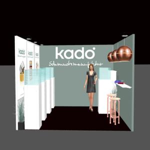 3D impressie stand Kado